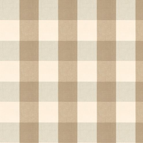 Buffalo Check Taupe Fabric by the Yard