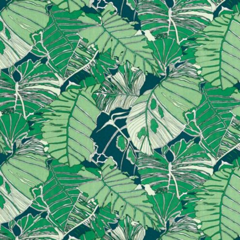 Palmae Green Fabric by the Yard