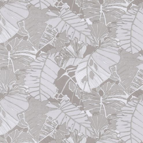 Palmae Taupe Fabric by the Yard