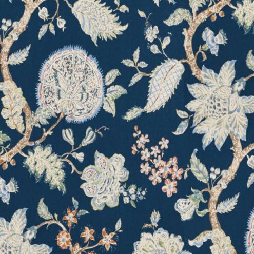 Vivian Navy Fabric by the Yard