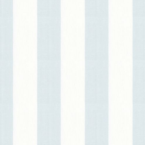 Blue and White Linen Canopy Stripe Fabric by