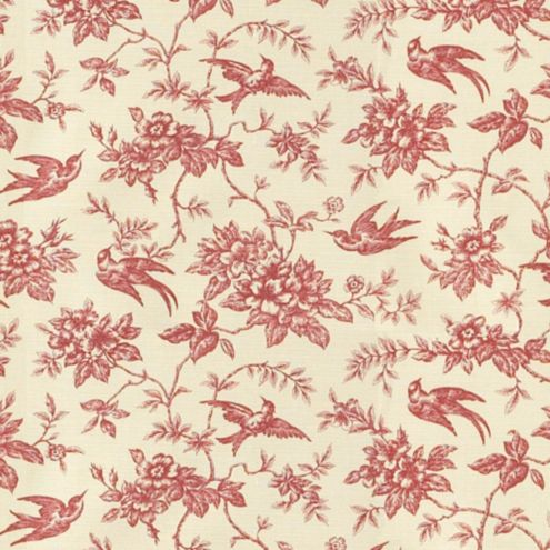 Lynwood Toile Red Fabric by the Yard