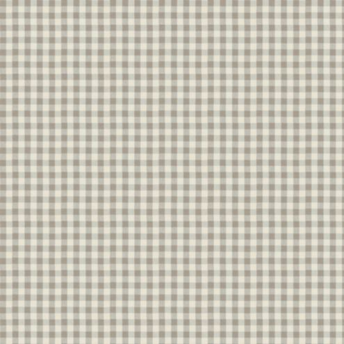Small Check Taupe Fabric by the Yard