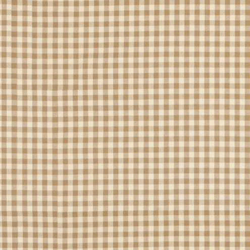 Small Check Toffee Fabric By the Yard