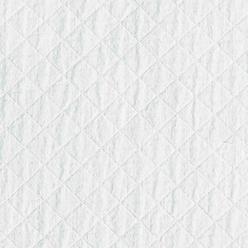 Quilted White Fabric By the Yard