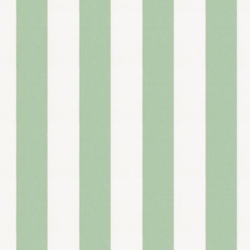 Canopy Stripe Mint/White Sunbrella® Fabric by the