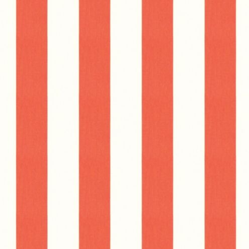 Canopy Stripe Coral/White Sunbrella® Fabric by the