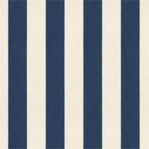 Canopy Stripe Navy & Sand Sunbrella® Fabric