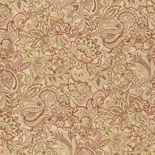 Tuscan Paisley Rust Sunbrella® Fabric by the Yard