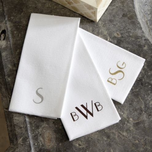 Monogrammed Paper Guest Towels - Set of 50