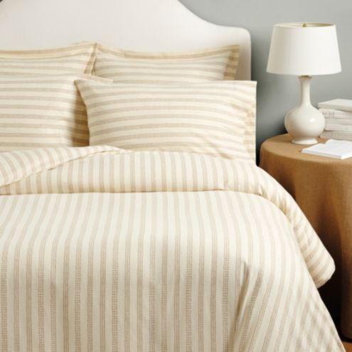 Reese Dotted Stripe Flannel Duvet & Sham Set