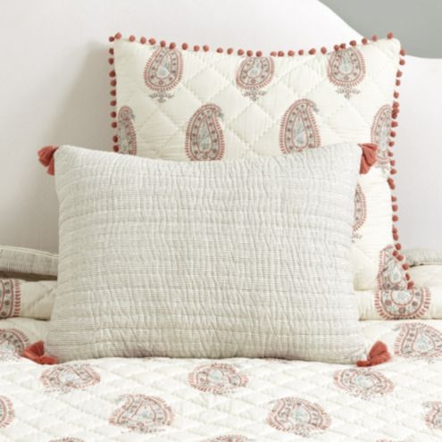 Nora Block Print Quilted Sham