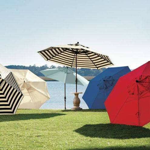 9 Foot Auto Tilt Umbrella