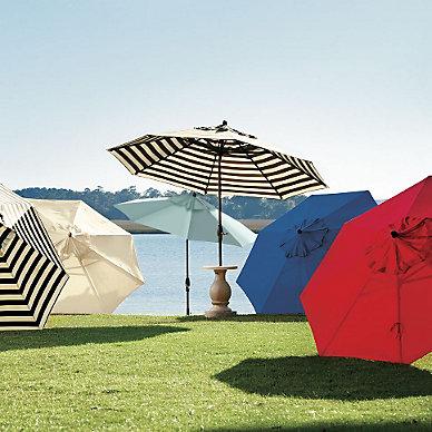 patio umbrellas | ballard designs - Designer Patio Umbrellas