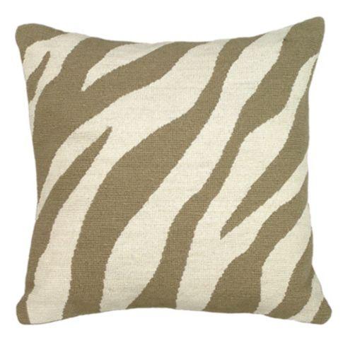 Zebra Needlepoint Pillow - Zebra Pillow - Zebra