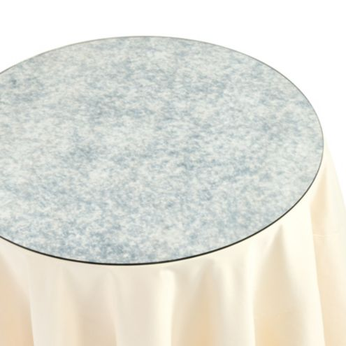 Antiqued Mirror Table Topper - 24 inch Diam.