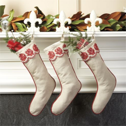 Bunny Williams Embroidered Stocking