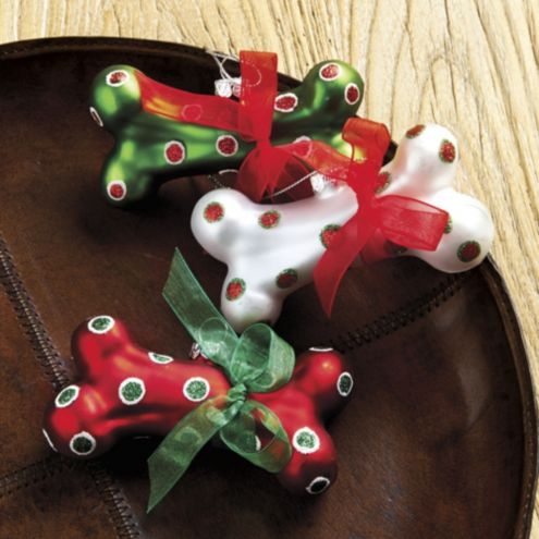 Spot Dog Bone Ornaments - Set of 3