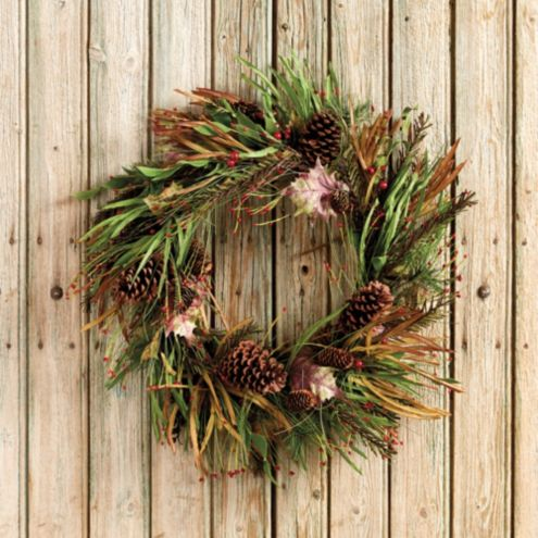 Highland Mixed Greenery Wreath