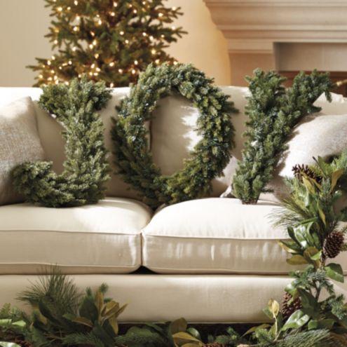 Joy Spruce Wreath