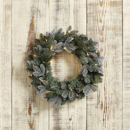 Mixed Flocking Wreath