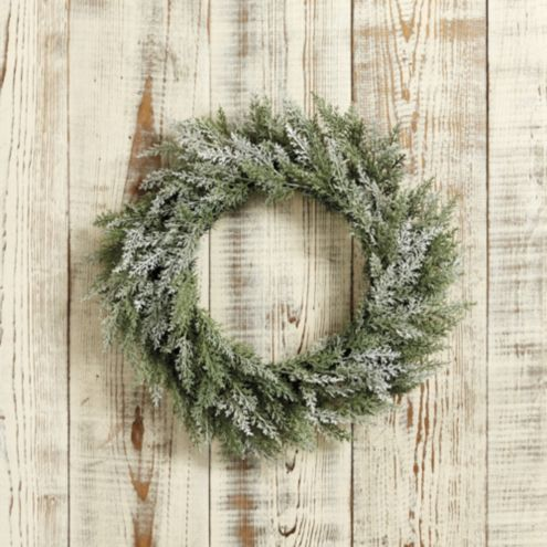 Frosted Cedar Wreath