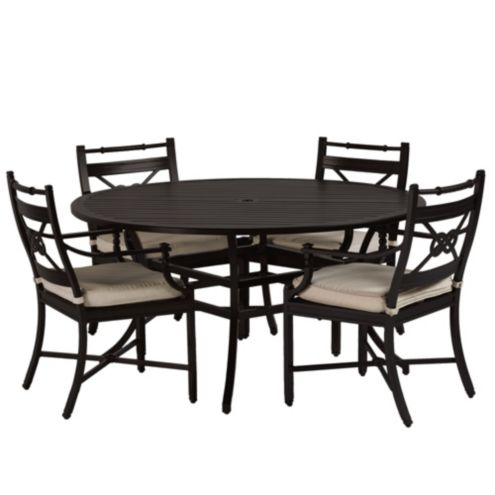 Newport 5-Piece Dining Set with Armchairs