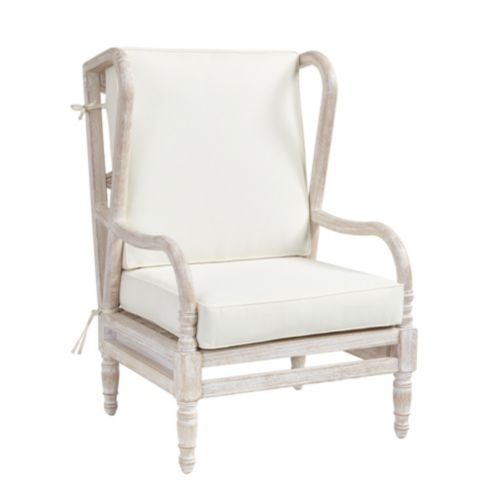 Ceylon Whitewash Wingback Occasional Chair