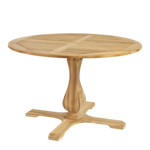 Ceylon Teak Round Pedestal Dining Table - 48