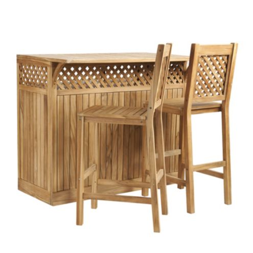 Atherton 3 | Piece Trellis Bar Set
