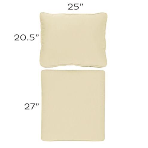 Ballard Basic Seat and Back Cushion Set with