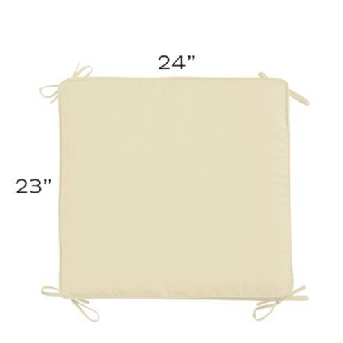 Ballard Basic Outdoor Ottoman Cushion with Box Edge
