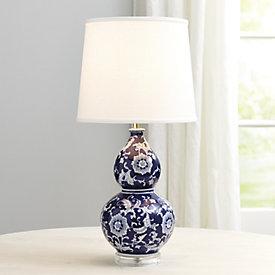 Ballard Designs Table Lamps ballard designs casa florentina boboli table lamp Blue White Double Gourd Table Lamp