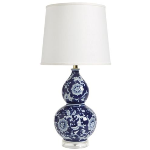 Blue & White Double Gourd Table Lamp