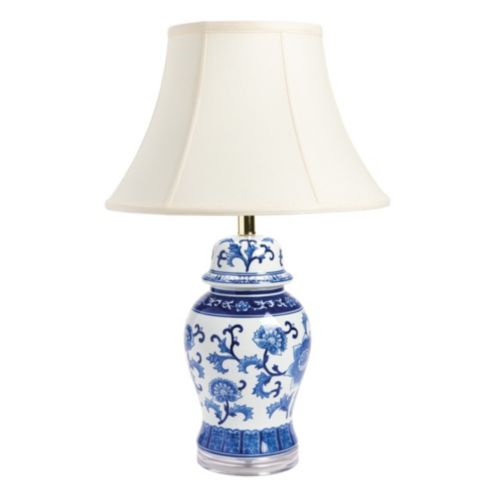 Blue & White Ginger Jar Lamp