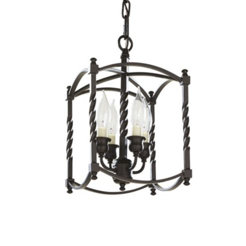 Carriage House Chandelier - Squared Cage - Four