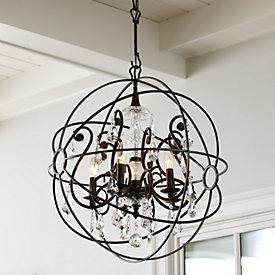 orb chandelier ballard designs ballard designs marais 6 light orb chandelier polyvore