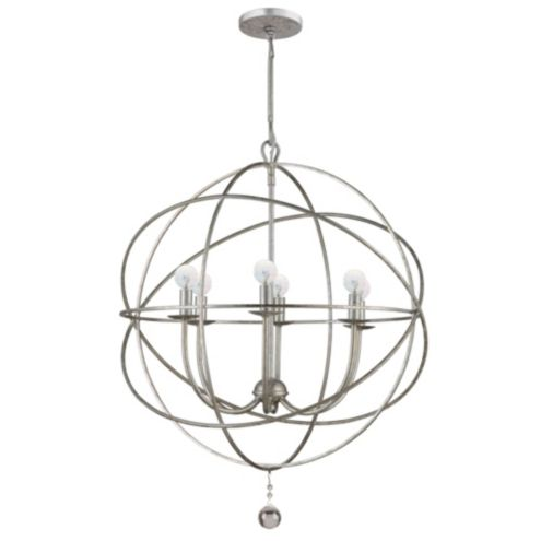 Stunning This is Overstocks Benita Antique Black Metal Sphere Light Crystal Chandelier and is on sale for
