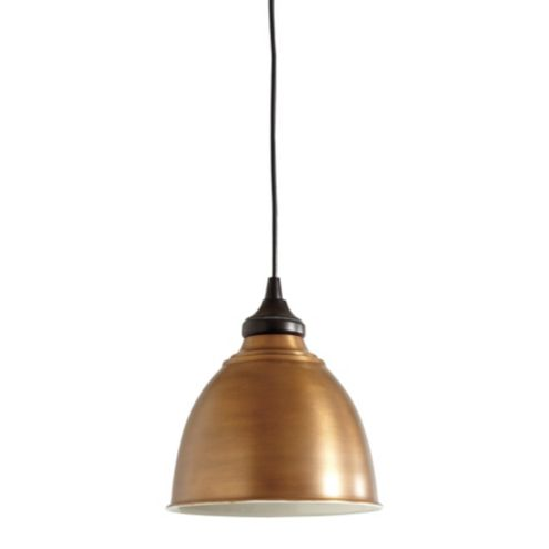 Small Industrial Copper Shade with Adapter - Recessed