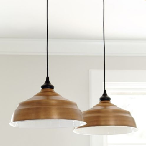 Large Industrial Copper Shade with Adapter - Recessed