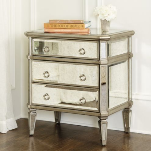Deanna Mirrored Side Table