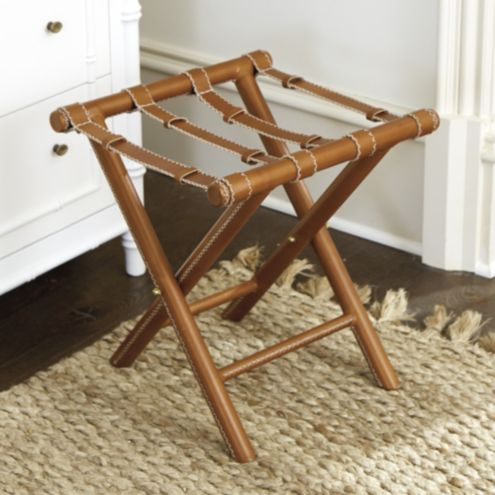Bunny Williams Leather Luggage Rack