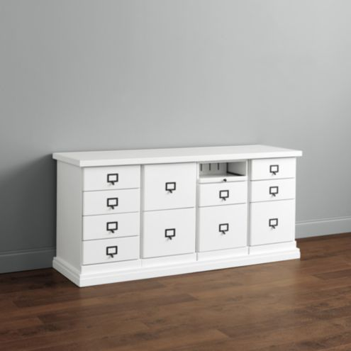 Original Home Office™ 4-Cabinet Credenza with Wood