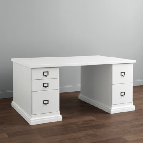 Original Home Office&#8482 Partners Desk with Wood Top