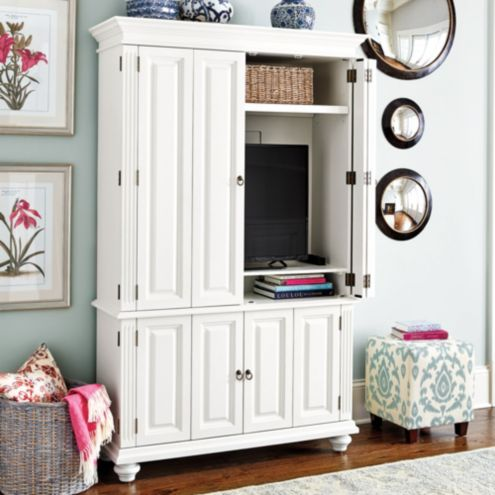 Slim Chadwick Media Armoire | Lighting