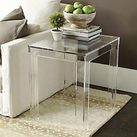 Felicity Acrylic Rectangular Side Table Part 70