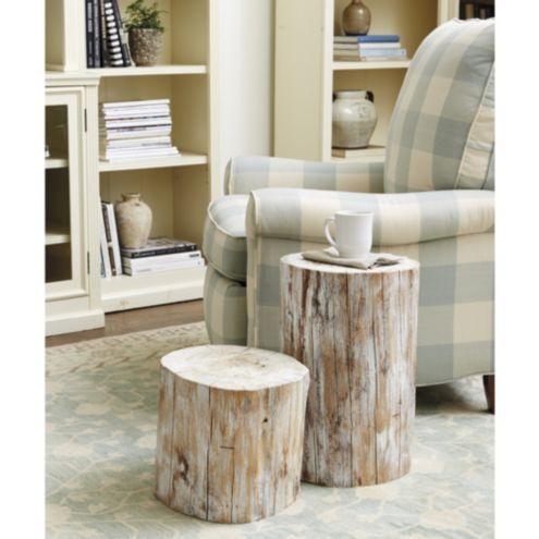 Wood Log Garden Seat