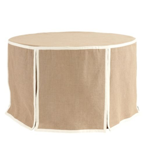 Paneled Party Tablecloth Burlap - 108