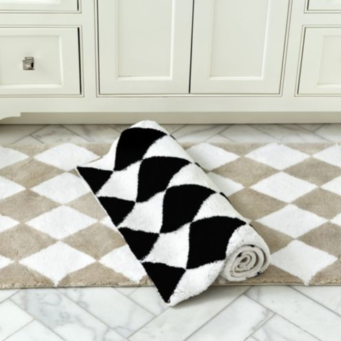 Harlequin Black White Rug | Checkerboard Black White