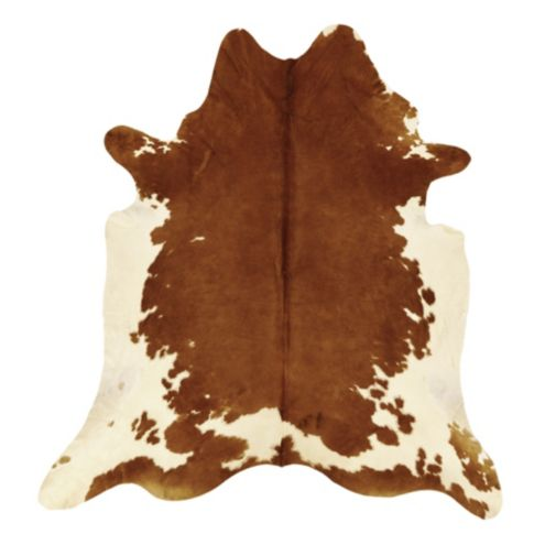 Natural Cowhide Rug | Brown and White